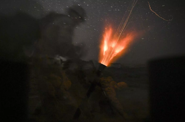 Lực lượng của Mỹ diễn tập tạo Hajin, Syria hôm 4/8. (Ảnh: US Air Force)