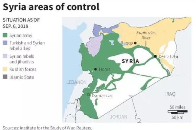 Quân đội Syria đã giành lại quyền kiểm soát hầu hết lãnh thổ. (Đồ họa: Reuters)