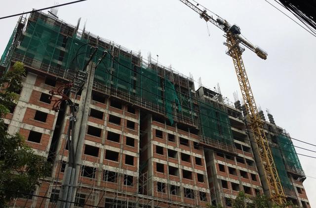Công trình trung tâm thương mại và căn hộ Saigon Homes - nơi xảy ra sự cố