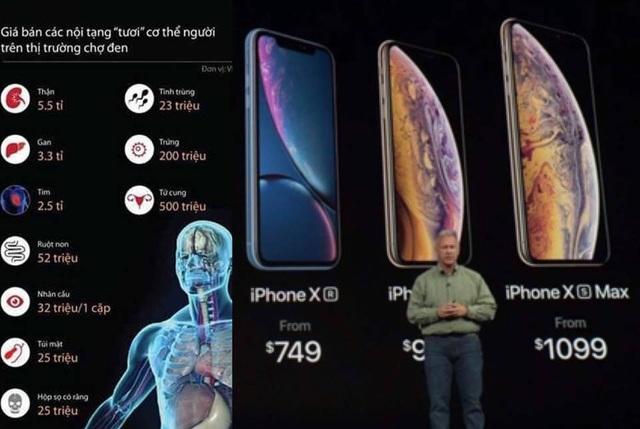 Trong khi đó nhiều người lại cân nhắc... bán nội tạng để có tiền mua iPhone XS mới