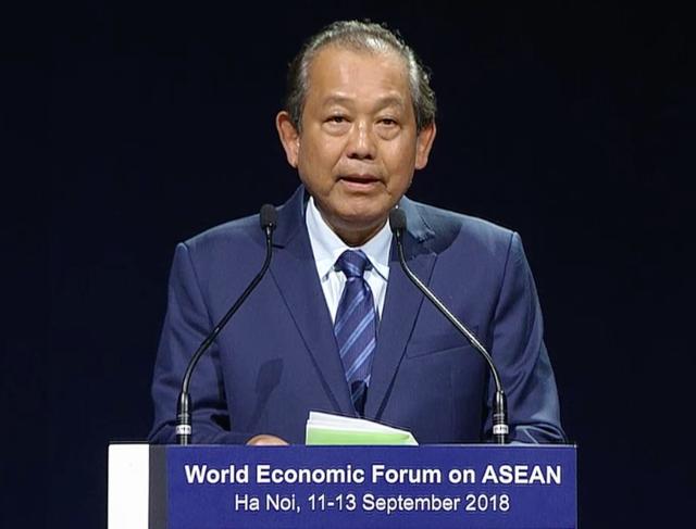 Phó Thủ tướng Chính phủ Trương Hòa Bình phát biểu bế mạc WEF ASEAN 2018, chiều 13/9
