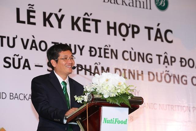Ông Trần Thanh Hải, Chủ tịch HĐQT NutiFood vui mừng chia sẻ về cơ duyên của hợp tác lần này