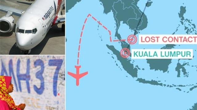 Máy bay MH370 của hãng hàng không Malaysia Airlines mất tích hôm 8/3/2014 cùng với 239 người trên khoang khi từ Kuala Lumpur đi Bắc Kinh. (Ảnh: Mirror)