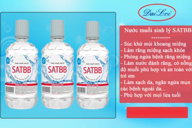 Thu hồi trên toàn quốc lô nước muối sinh lý không đạt chất lượng của công ty Đại Lợi - 1