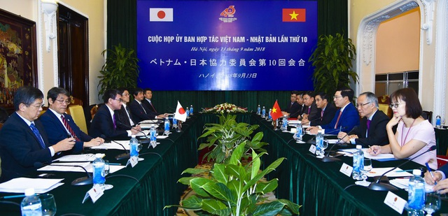 Phiên họp Ủy ban Hợp tác Việt Nam - Nhật Bản lần thứ 10, tại Hà Nội