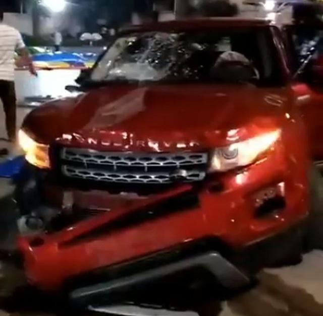 Chiếc xe gây tai nạn. (Ảnh: Weibo)