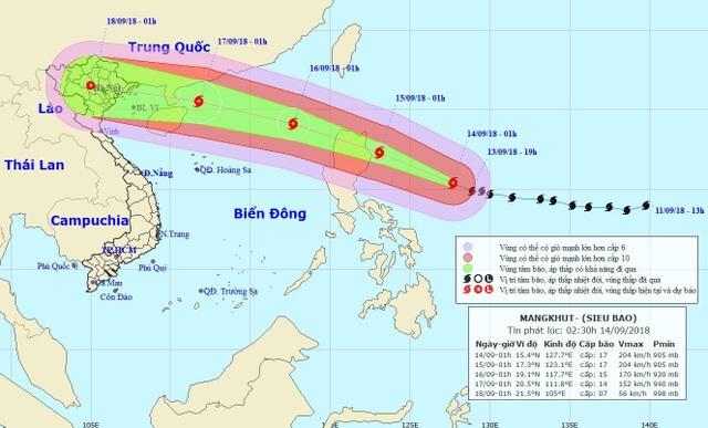 Thông tin mới về siêu bão Mangkhut - 1