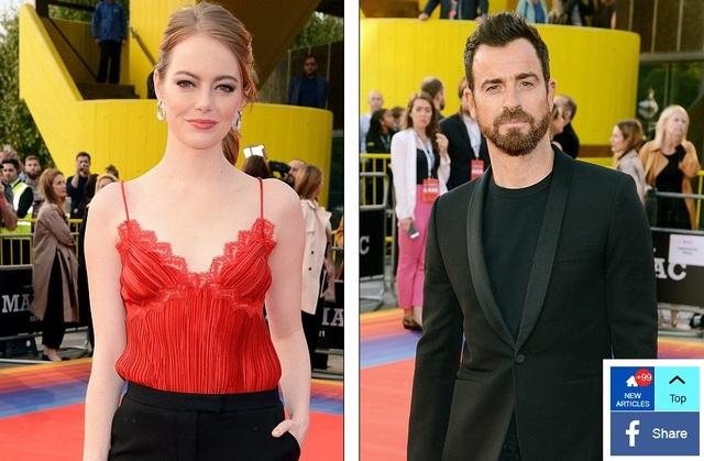Emma Stone dự công chiếu phim mới cùng bạn diễn Justin Theroux