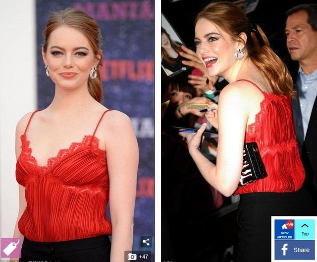 Emma diện trang phục của hãng Louis Vuitton