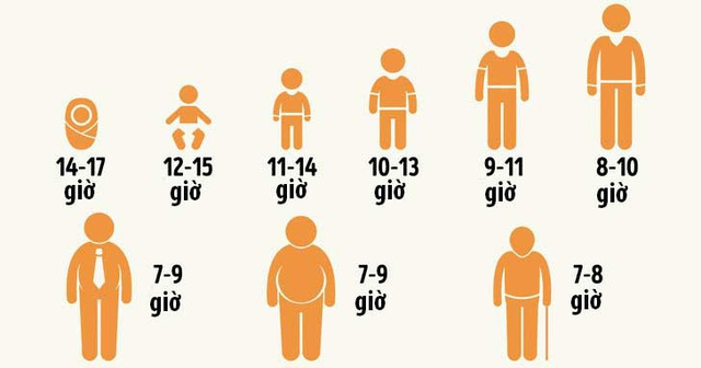 Thời lượng giấc ngủ phụ thuộc vào tuổi tác - 4