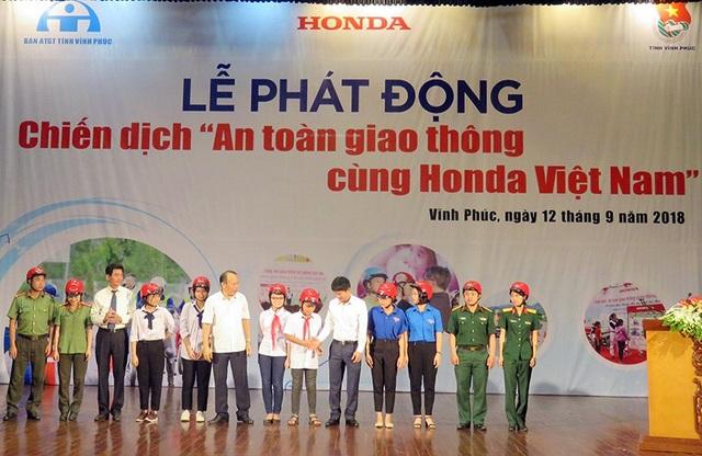 Honda phát động chiến dịch An toàn giao thông tại Vĩnh Phúc - 1
