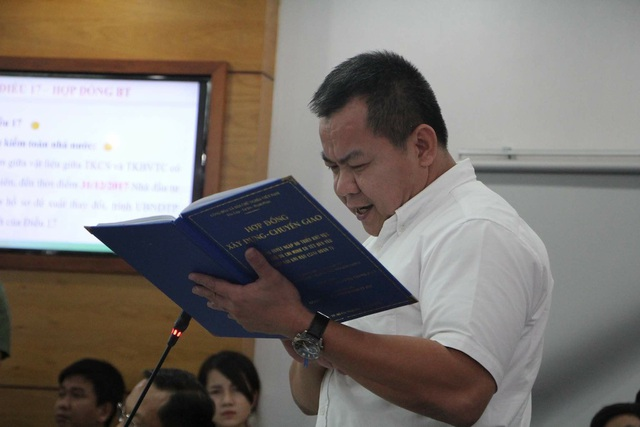 Ông Nguyễn Tâm Tiến cung cấp, trích dẫn các tài liệu liên quan khẳng định nhà đầu tư thực hiện dự án đúng quy định pháp luật, hợp đồng dự án và đảm bảo chất lượng - kỹ thuật