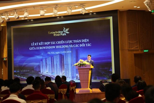 Ông Nguyễn Mạnh Cường - Giám đốc Sàn Giao dịch BĐS Eurowindow Holding chia sẻ về ý tưởng thiết kế, triết lý xây dựng và định hướng phát triển dự án Eurowindow River Park
