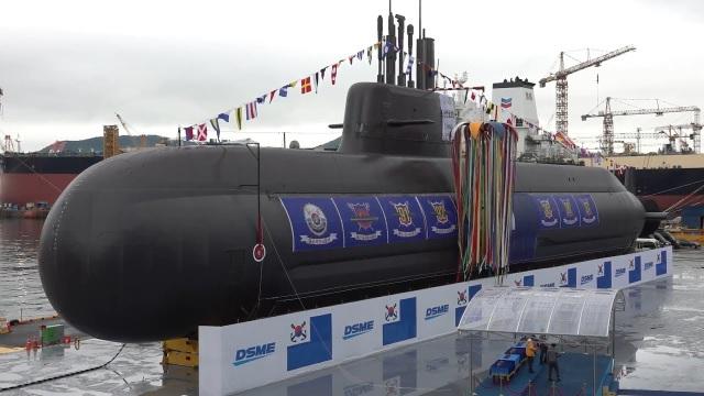 Tàu ngầm Dosan Ahn Chang-ho của Hàn Quốc (Ảnh: AFP)