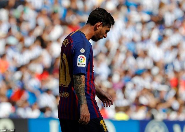 Lionel Messi để lại nhiều nỗi thất vọng ở trận đấu này
