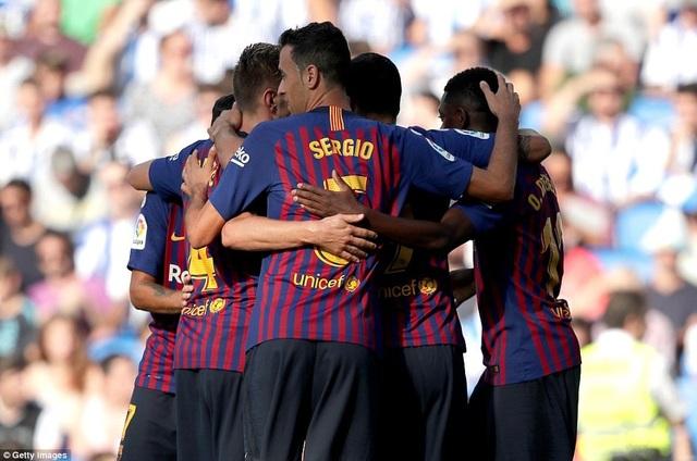 Barcelona toàn thắng cả 4 trận đấu ở La Liga năm nay