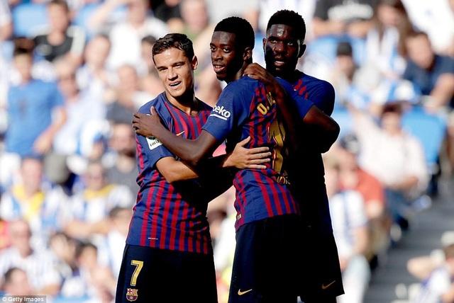 Dembele ấn định chiến thắng 2-1 cho Barcelona ở phút 66