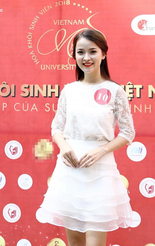 Nữ sinh Hà Nội xúng xính váy áo dự thi Sơ khảo Hoa khôi Sinh viên Việt Nam - 7