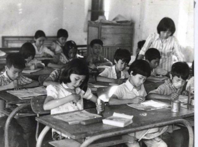 Trong giờ học của học sinh khóa 7 trường Thực nghiệm (Hà Nội).
