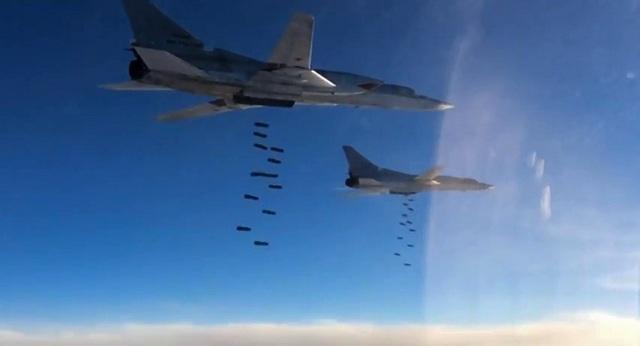 Các máy bay ném bom tầm xa Tu-22M3 của Nga (Ảnh: Bộ Quốc phòng Nga)