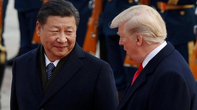 Chủ tịch Tập Cận Bình đón Tổng thống Donald Trump tại Bắc Kinh năm 2017 (Ảnh: Reuters)