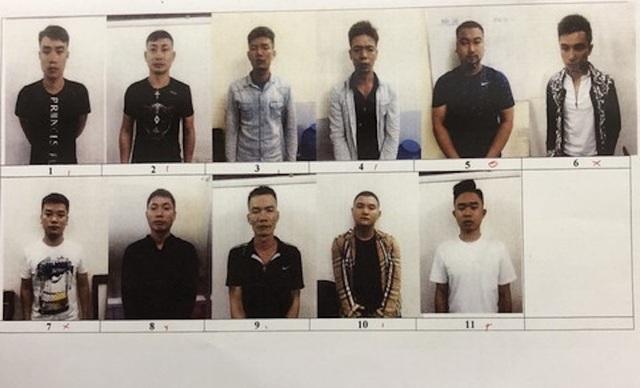 Những thành viên nhóm cho vay nặng lãi do đối tượng Nguyễn Khắc Đức cầm đầu.