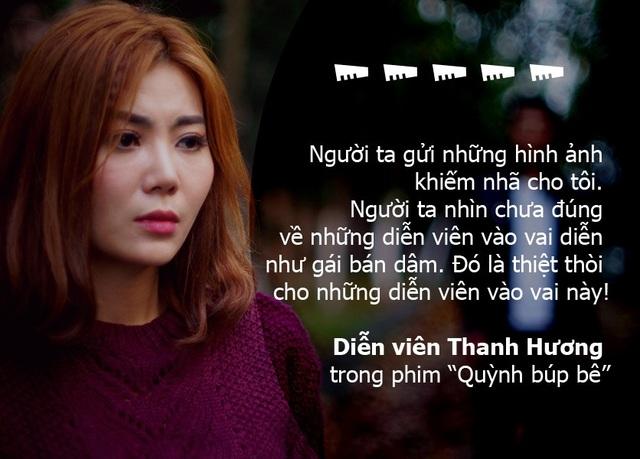 """Thanh Hương: """"Tôi phát điên khi đóng vai cave trong Quỳnh búp bê"""""""