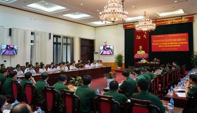 Hội nghị công bố kiểm toán tại Bộ Tổng tham mưu Quân đội nhân dân Việt Nam.