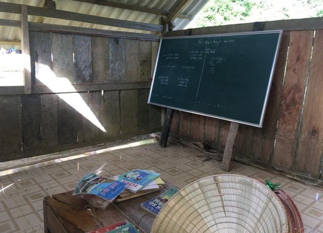 Phòng học tạm bợ dùng chung cho cả Mầm non và Tiểu học