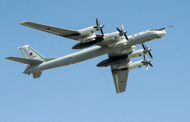 Máy bay ném bom Tupolev-95MS (Ảnh: TASS)