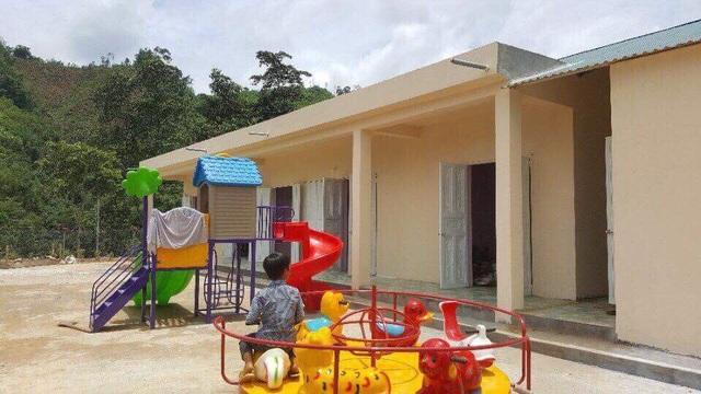 Điểm trường Nà Ngao sau khi xây dựng xong.