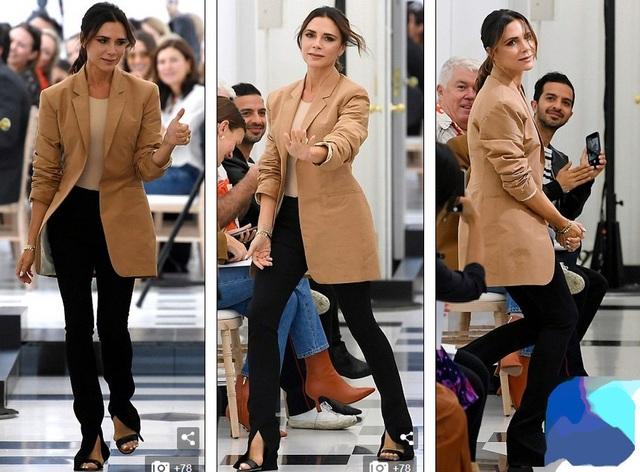 Victoria Beckham sành điệu ra mắt bộ sưu tập thời trang mới tại tuần lễ thời trang London ngày 16/9 vừa qua
