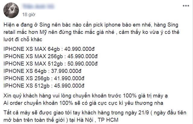 Loạn giá iPhone XS xách tay: Bản cao nhất gần 51 triệu đồng - 6