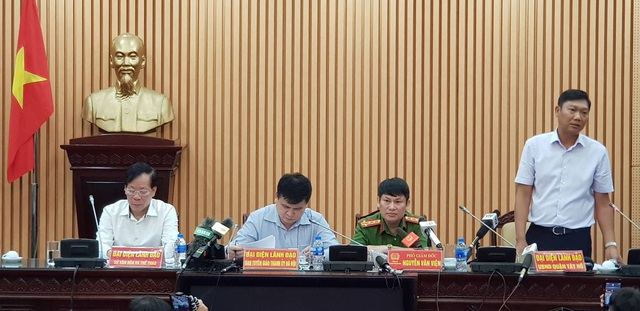 Đại diện các cơ quan chức năng tại buổi họp báo