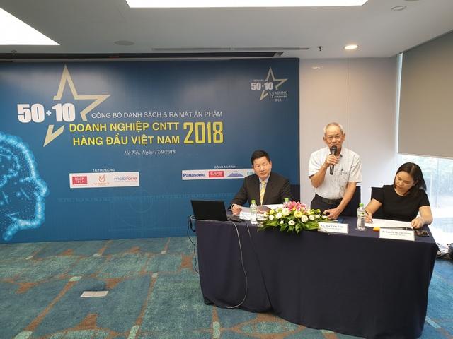 """Họp báo công bố Danh sách """"50+10 Doanh nghiệp CNTT hàng đầu Việt Nam 2018"""