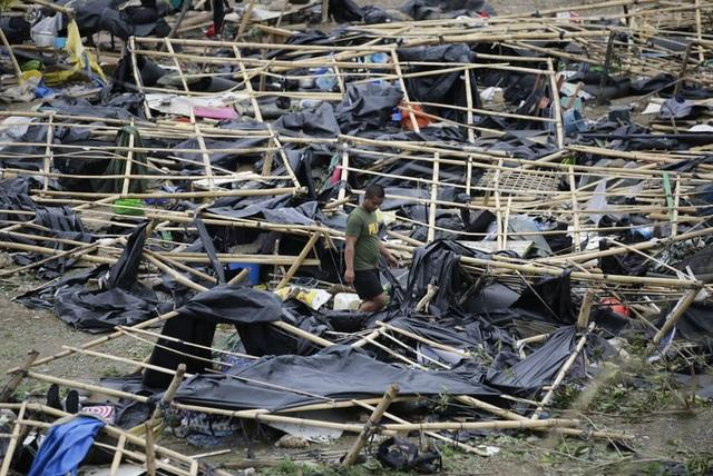 Các chuyên gia dự đoán Philippines có thể đối mặt với tình trạng thiếu lương thực, chi phí tăng cao sau bão Mangkhut. Ước tính bão Mangkhut có thể khiến Philippines thiệt hại khoảng 5-6% GDP, tương đương với hơn 20 tỷ USD. (Ảnh: AFP)