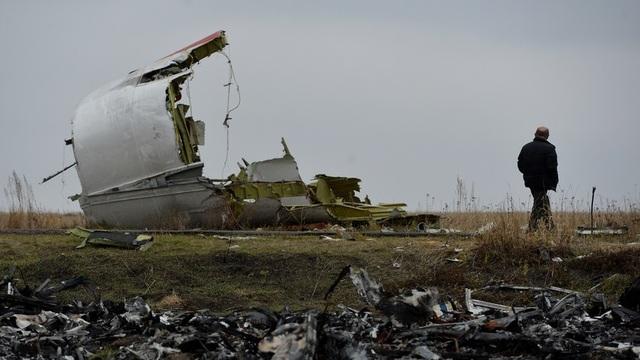 Máy bay MH17 bị tên lửa bẳn rơi khi bay qua miền đông Ukraine hôm 17/7/2017. (Ảnh: Sputnik)
