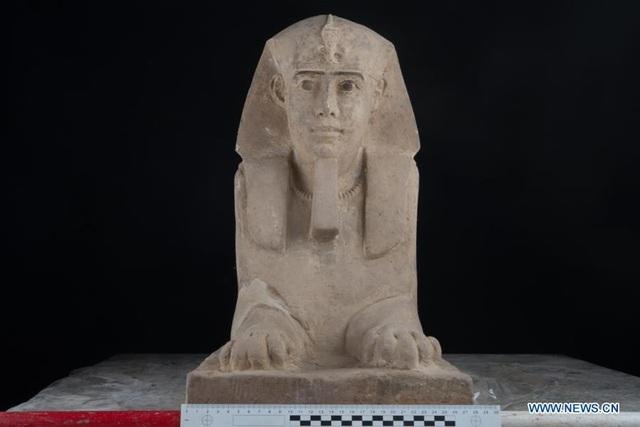 Bức tượng nhân sư bằng đá sa thạch có niên đại hơn 2000 năm tuổi