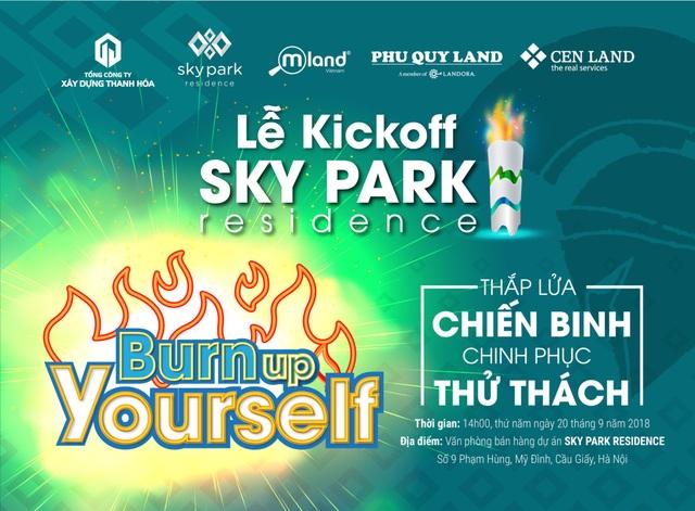Lễ Kickoff dự án Sky park Residence sẽ được diễn ra vào ngày 20/9/2018 tại VPBH dự án, số 9 Phạm Hùng, Q. Cầu Giấy, TP.Hà Nội