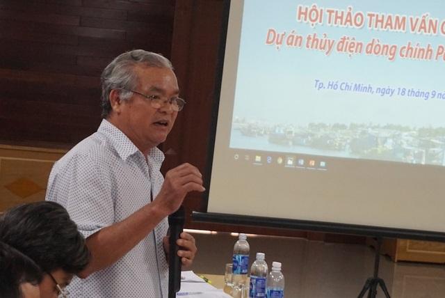 Ông Lữ Cẩm Khường, Phó Giám đốc Sở Nông nghiệp và Phát triển nông thôn tỉnh An Giang đề nghị cần xây dựng kịch bản ứng phó trong tương lai khi các nhà máy thủy điện trên sông Mê Công vận hành