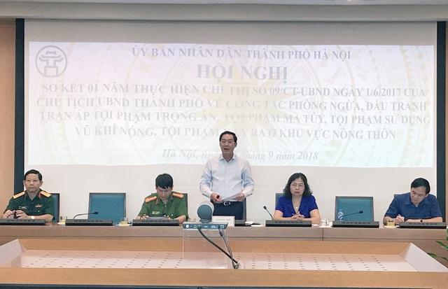 Ông Lê Hồng Sơn - Phó Chủ tịch UBND TP Hà Nội phát biểu tại hội nghị
