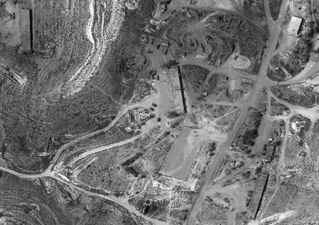 Ảnh chụp vệ tinh một căn cứ quân sự của Syria. (Ảnh: Bộ Quốc phòng Israel)