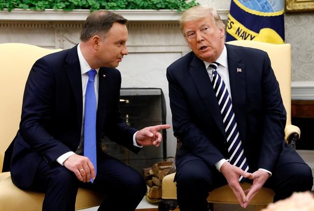 Tổng thống Ba Lan Andrzej Duda hội đàm với Tổng thống Mỹ Donald Trump tại Nhà Trắng ngày 18/9 (Ảnh: Reuters)