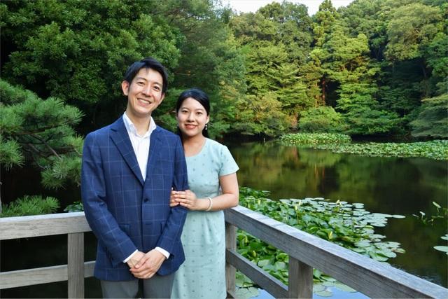 Công chúa Ayako và hôn phu Kei Moriya (Ảnh: Kyodo)