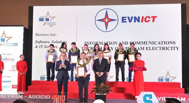Đây là lần thứ 2 liên tiếp EVNICT đạt được danh hiệu 50 doanh nghiệp CNTT hàng đầu Việt Nam