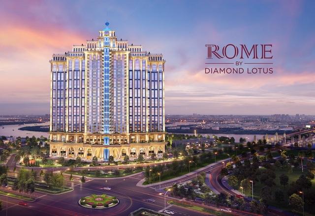 Dự án đầu tiên đánh dấu sự hợp tác này chính là Rome Diamond Lotus, tại khu đô thị Thủ Thiêm (Q.2).