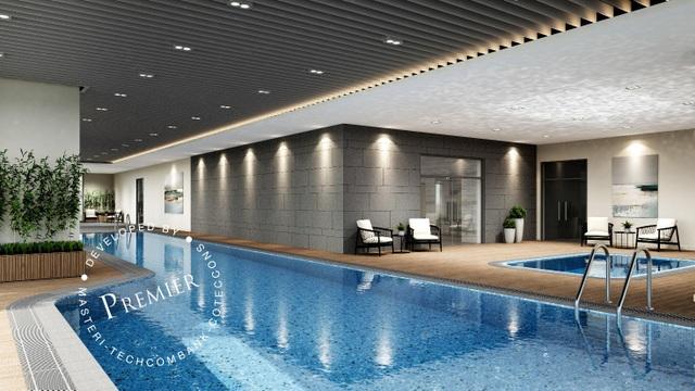 Hồ bơi thiết kế trong nhà đảm bảo sự riêng tư tuyệt đối cho cư dân