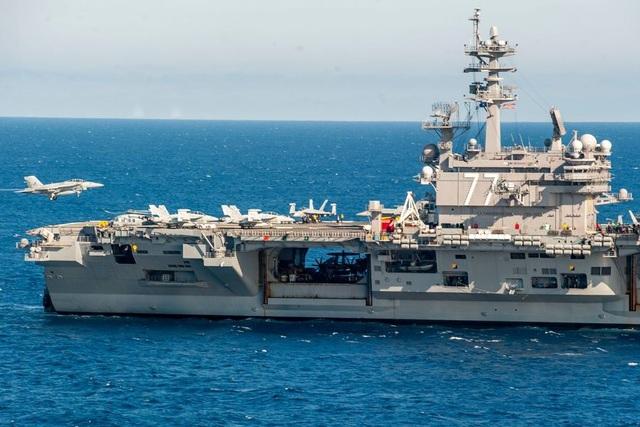 Tàu sân bay USS George H.W. Bush (Ảnh: US Navy)
