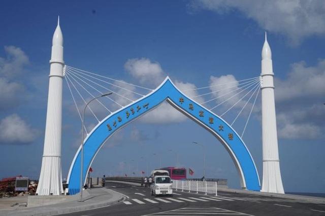 Cầu hữu nghị Trung Quốc - Maldives tại Maldives (Ảnh: newsin.asia)