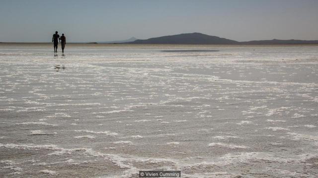 Một cánh đồng muối ở vùng lõm Danakil.